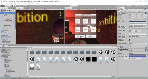 Unity 3D Oberfläche
