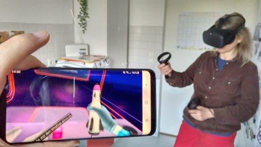 Oculus Quest im Einsatz