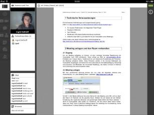 Screenshot AdobeConnect-App auf iPad